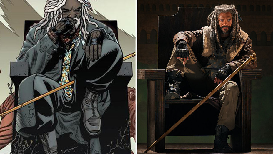 The Walking Dead _Ezekiel_Seated Split - Publicity - H 2016