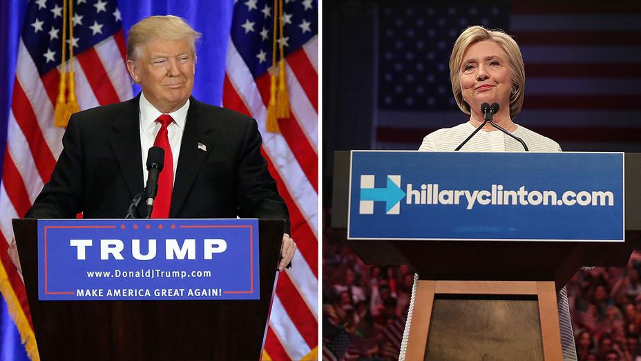 Trump- Clinton split-Getty-H 2016