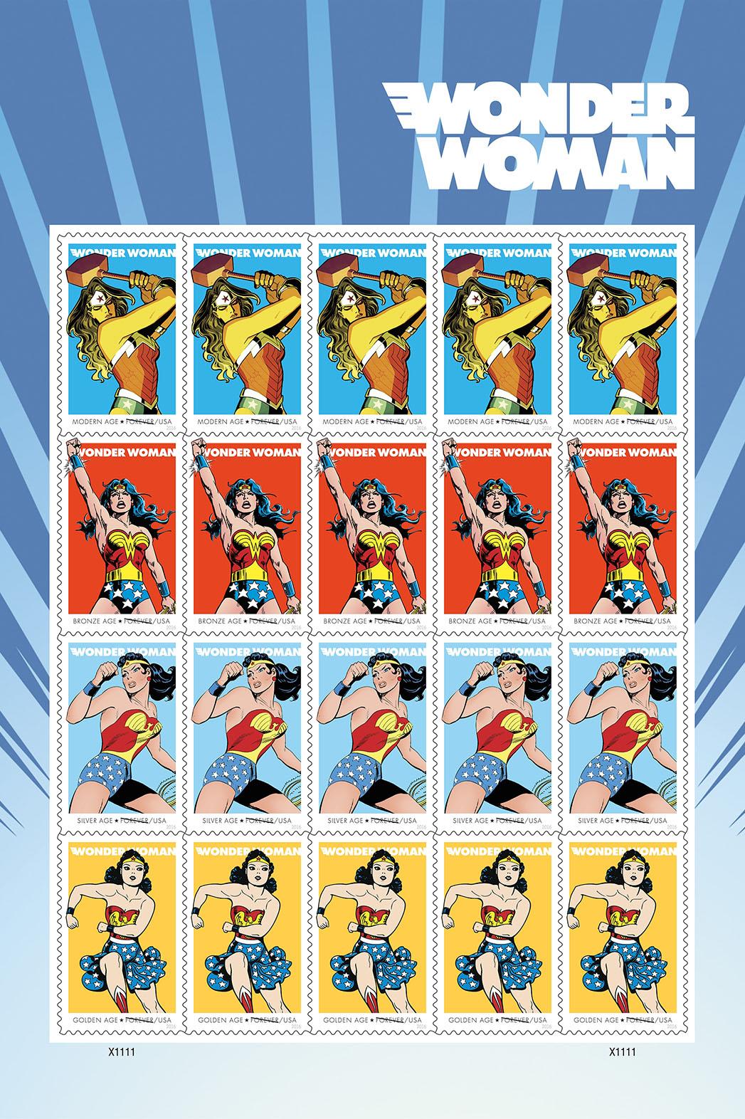 Wonder Woman Stamps - Publicity - P 2016
