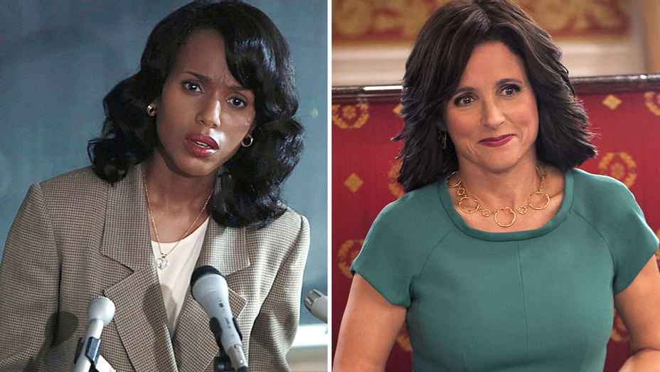 Kerry Washington in Confirmation and Julia Louis-Dreyfus in Veep-Publicity-H 2016