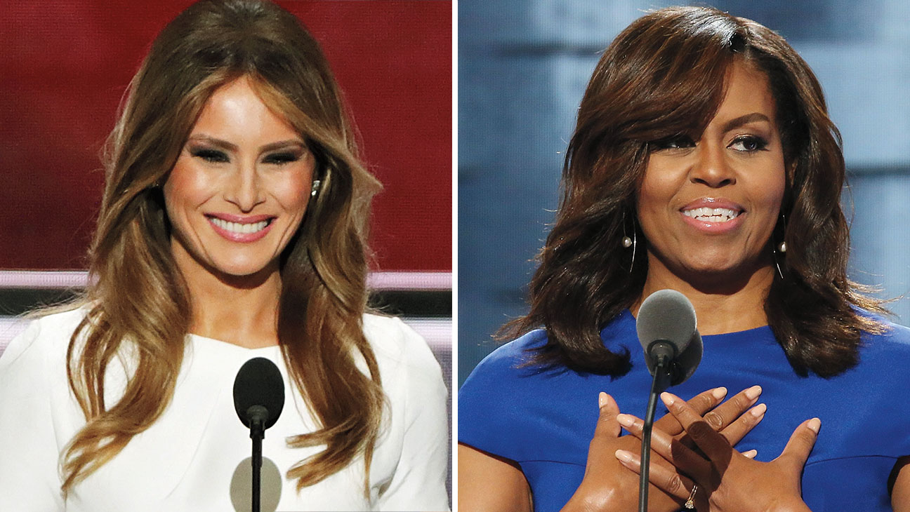Melania Trump and First lady Michelle Obama -Split-Getty-H 2016