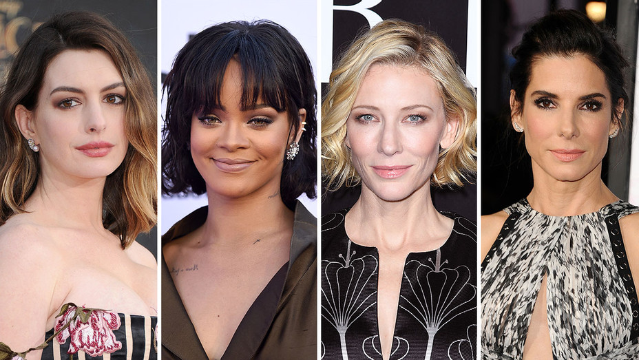 Anne Hathaway, Rihanna, Cate Blanchett and Sandra Bullock_Split - Getty - H 2016