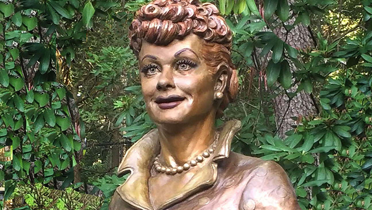 """New Lucille Ball Sculpture: """"Scary Lucy"""" Statue Replaced 