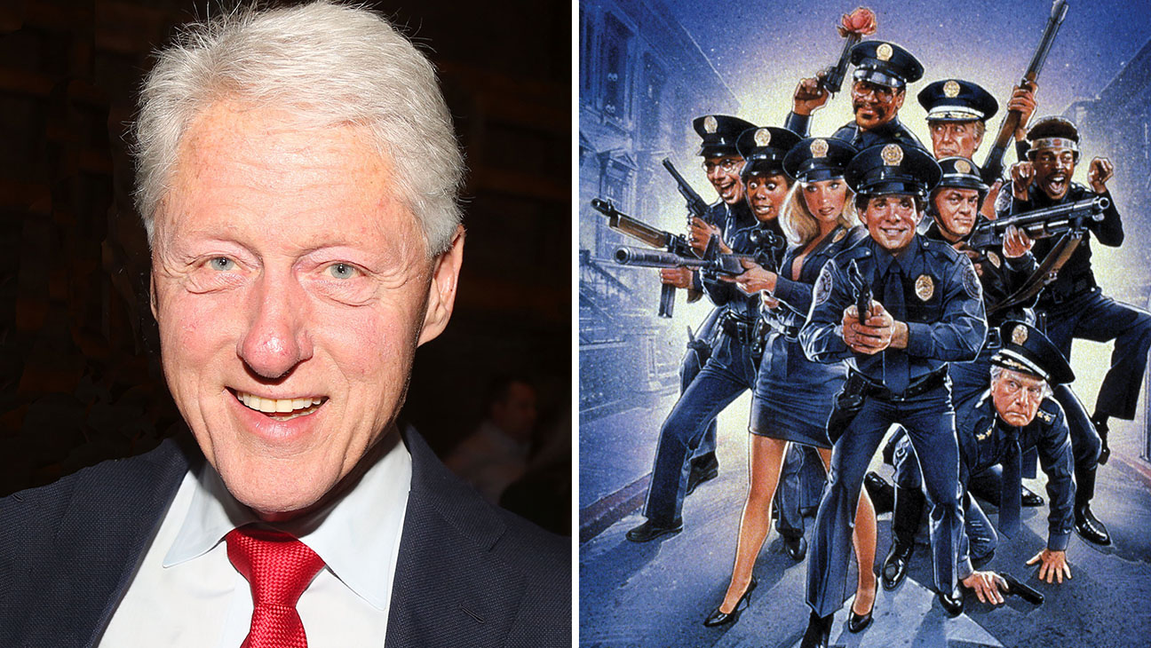 Clinton and Police Academy Movies split-Getty-Photofest-H 2016