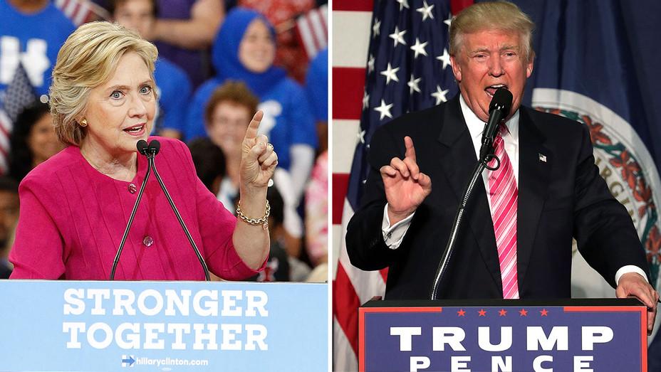 Hillary Clinton and Donald Trump Split-Getty-H 2016