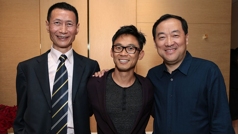 Starlight Chairman Xu Yan, James Wan, Alibaba Pictures Group CEO Zhang Qiang-Publicity-H 2016