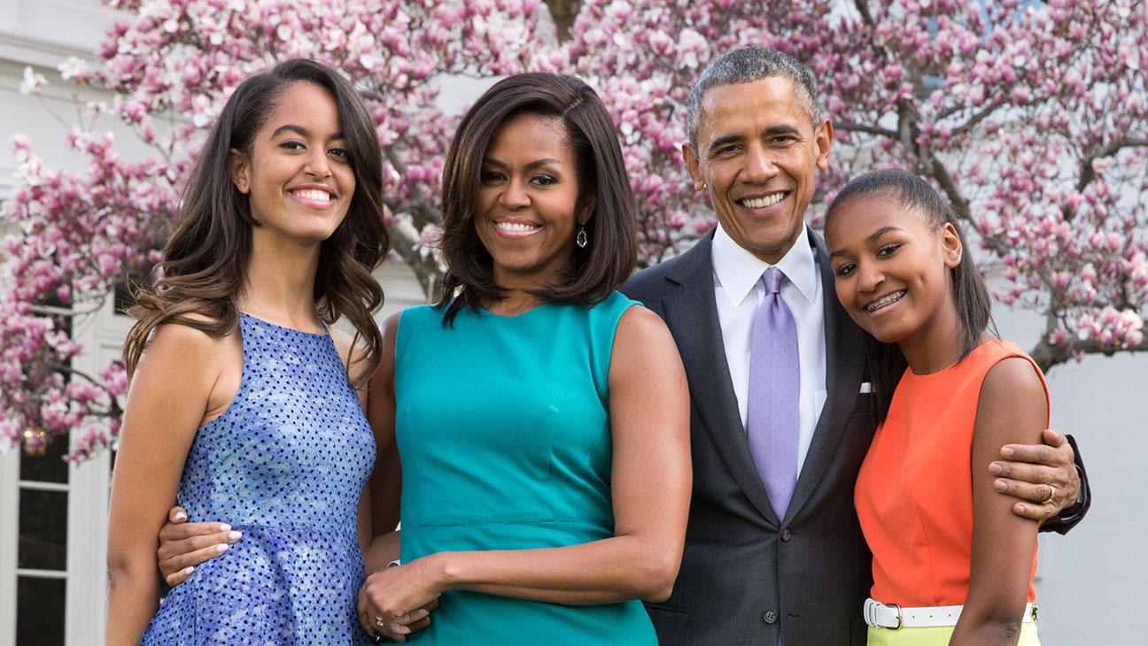 President Barack Obama, First Lady Michelle Obama, Malia and Sasha - Getty-H 2016