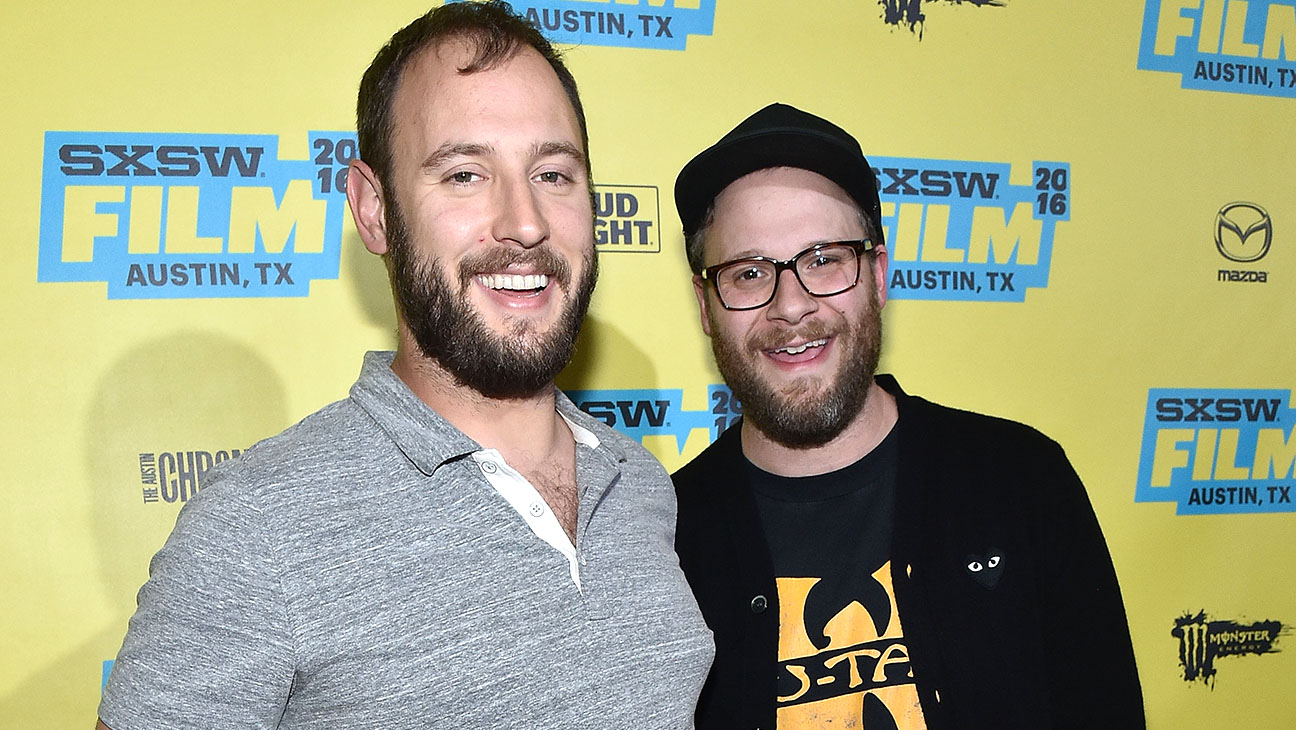 Evan Goldberg and Seth Rogen -Premiere of Sausage Party-Getty-H 2016