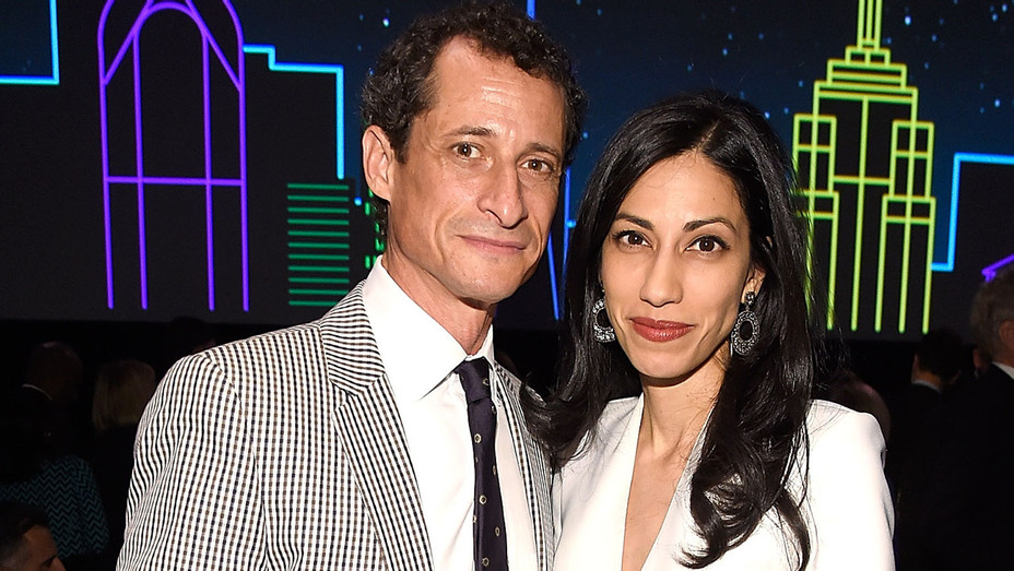Anthony Weiner and Huma Abedin - The Robin Hood Foundation's 2016 Benefit-Getty-H 2016