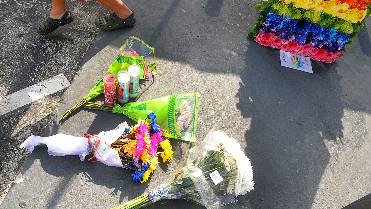 Flowers for the victims of the Pulse NightclubJune 21, 2016-Getty-H 2016