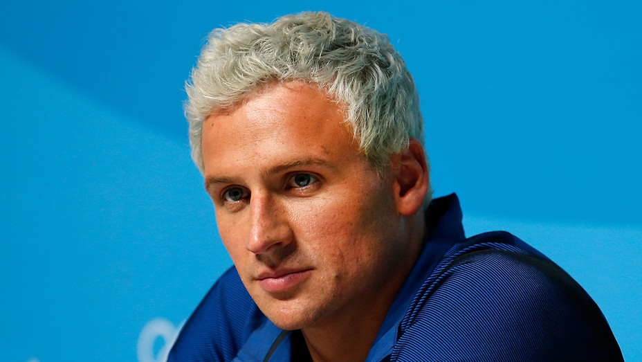Ryan Lochte -Press Center on Day 7 of the Rio Olympics-Getty-H 2016