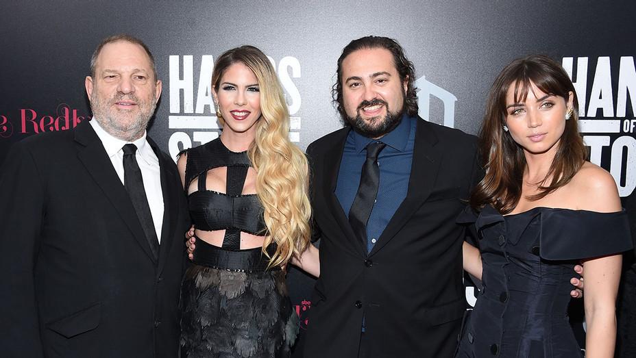 Harvey Weinstein, Claudine Jakubowicz, Jonathan Jakubowicz and Ana de Armas_Hands of Stone Premiere - Getty - H 2016
