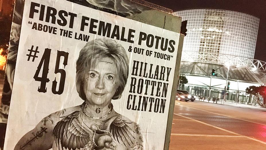 Hillary Clinton Street Art by Sabo - H 2016