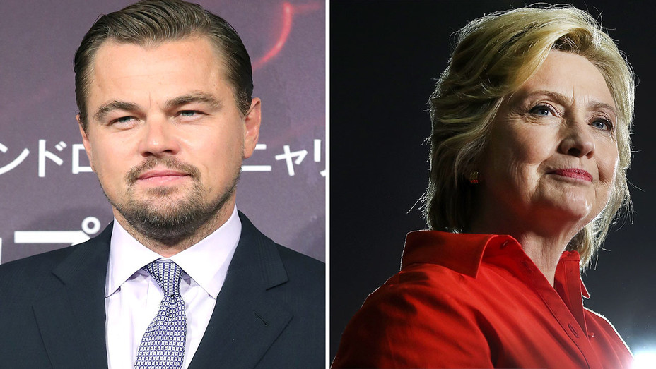 Leonardo DiCapri AND Hillary Clinton Split-GETTY- H 2016