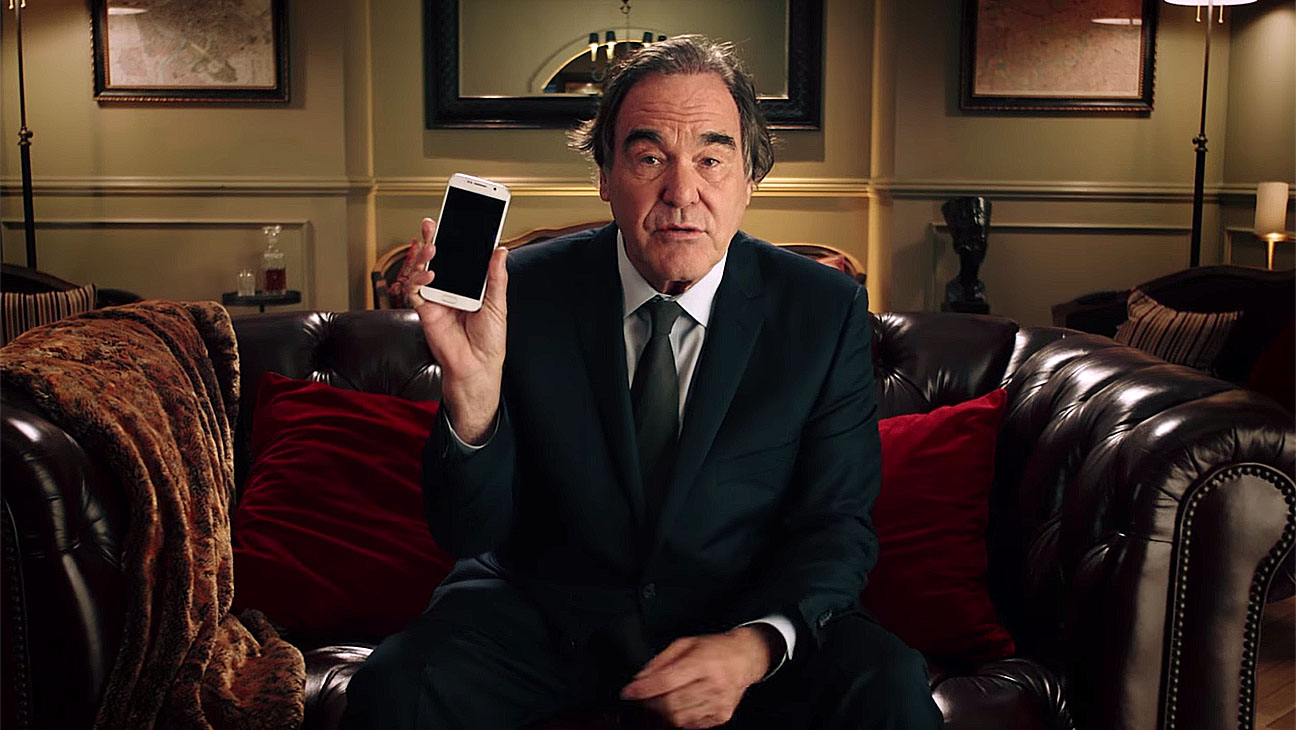 """SNOWDEN - Oliver Stone """"Turn Off Your Phone"""" PSA-Screen Shot-H 2016"""