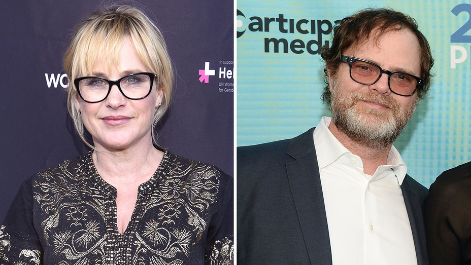 Patricia Arquette and Rainn Wilson split-Getty-H 2016