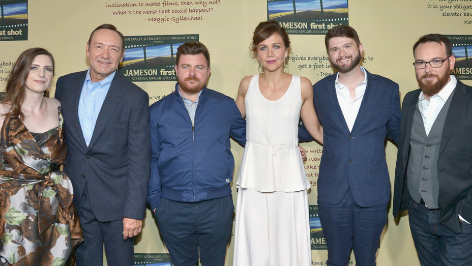 Kevin Spacey, Maggie Gyllenhaal, Dana Brunetti - Getty - H 2016