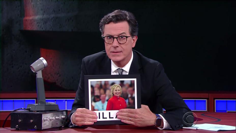 Stephen Colbert's -political conspiracy theories - Screen shot-H 2016