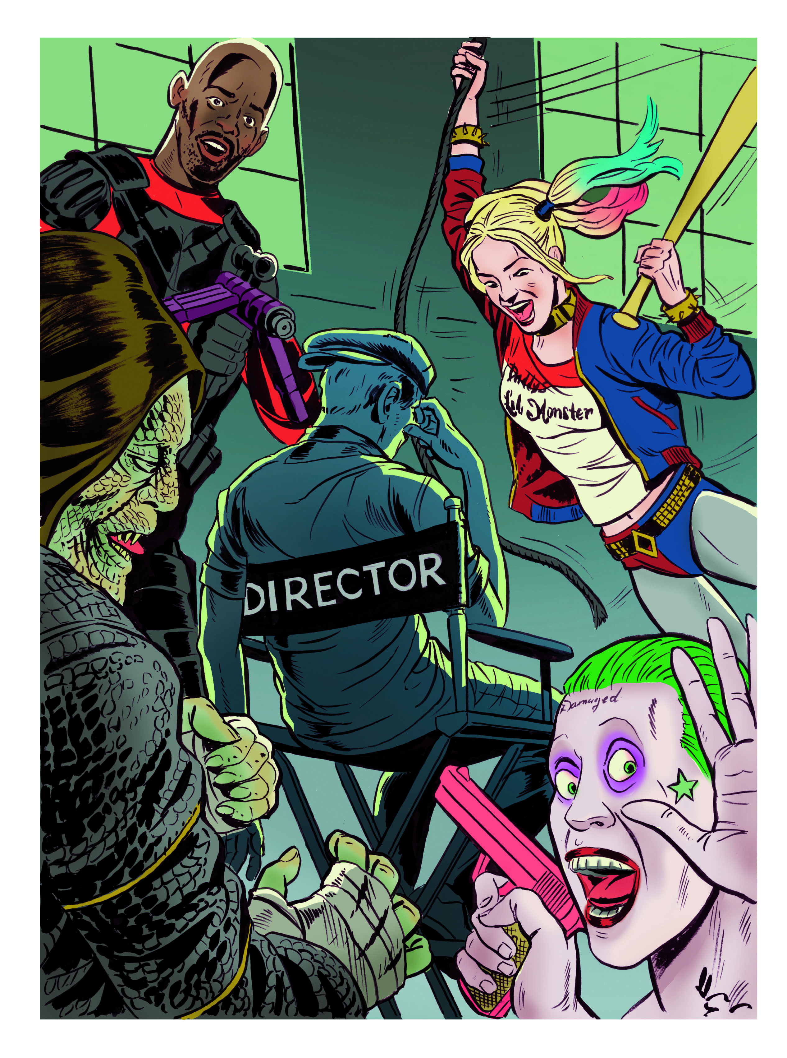 Suicide Squad Illo by Jonathan Carlson