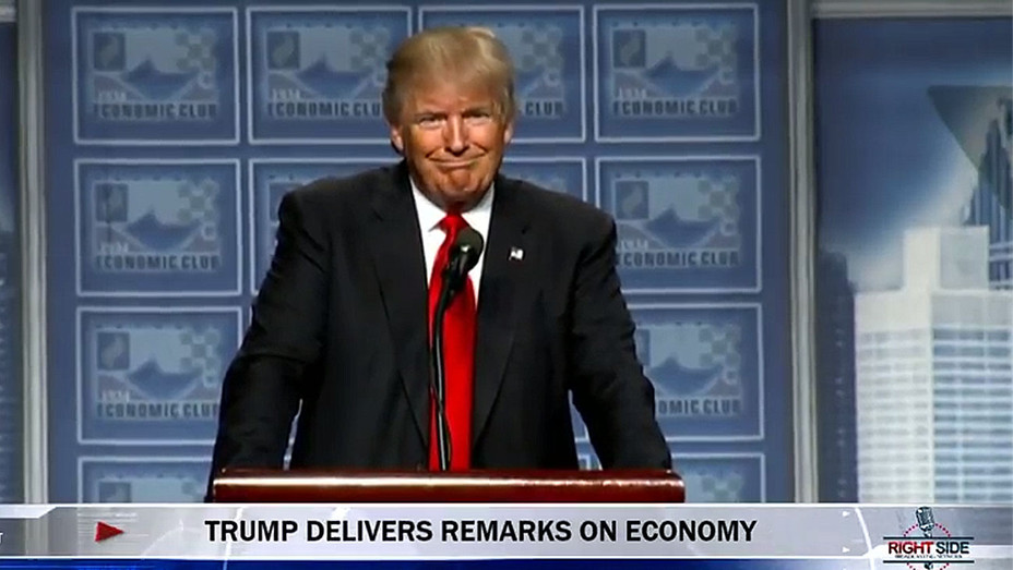 Trump screen shot remarks of economy-H 2016