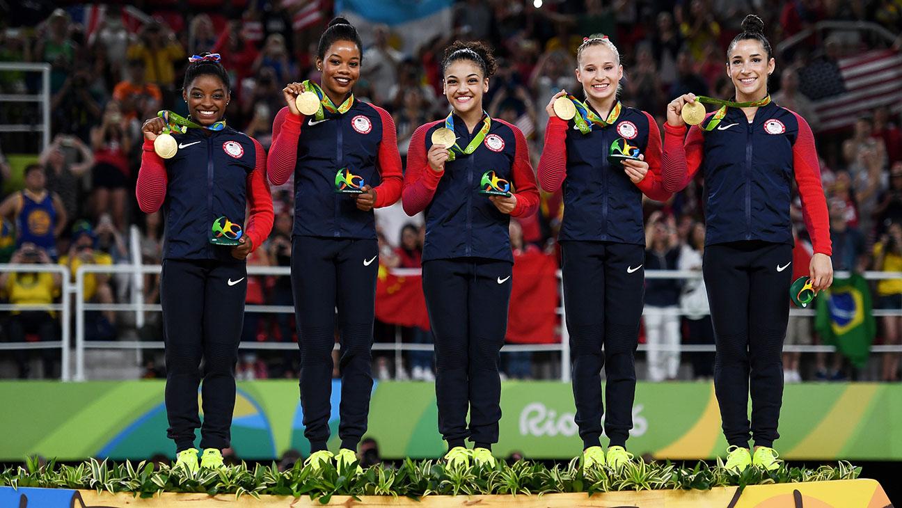 USA_Gymnastics_Team_Podium - Getty - H 2016