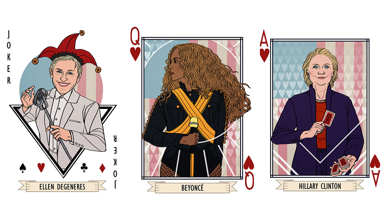 Woman Card Deck split-H 2016