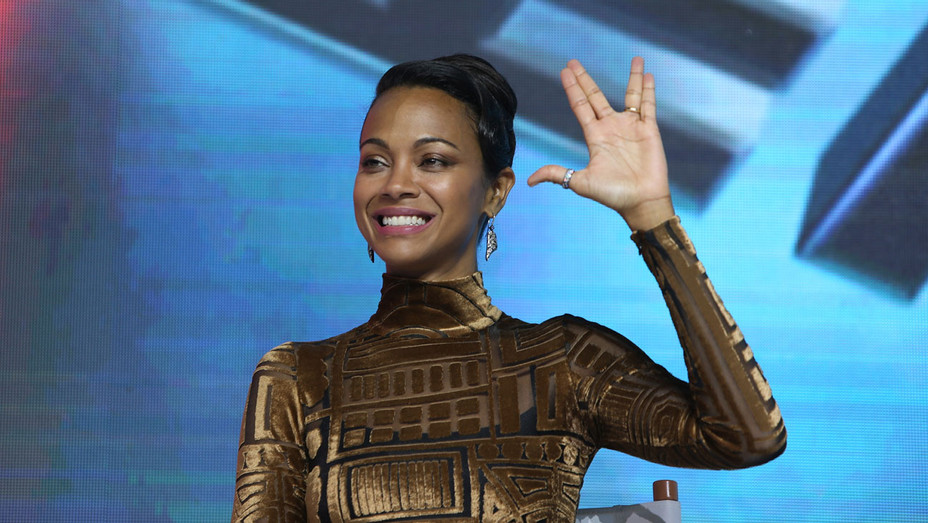 Zoe Saldana Star Trek Beijing - Getty - H 2016