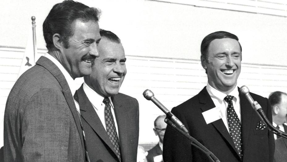 Richard Nixon with Dan Rowan and Dick Martin -AP File Photo - One Time Use - H 2016