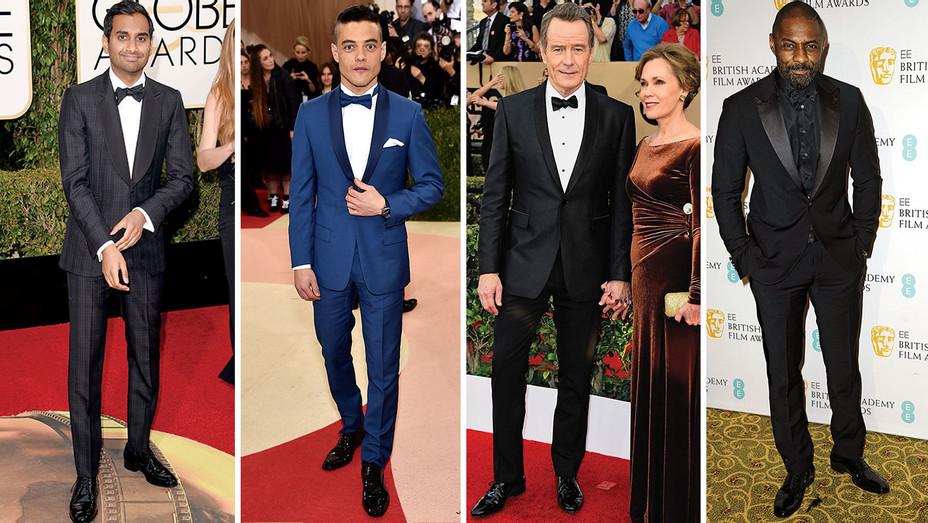 Aziz Ansari, Rami Malek, Bryan Cranston and Idris Elba Split - Getty - H 2016