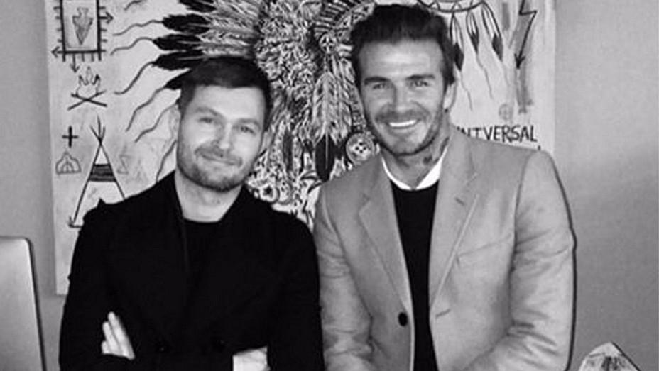 David Beckham Instagram Screen Shot with Daniel Kearns - H 2016