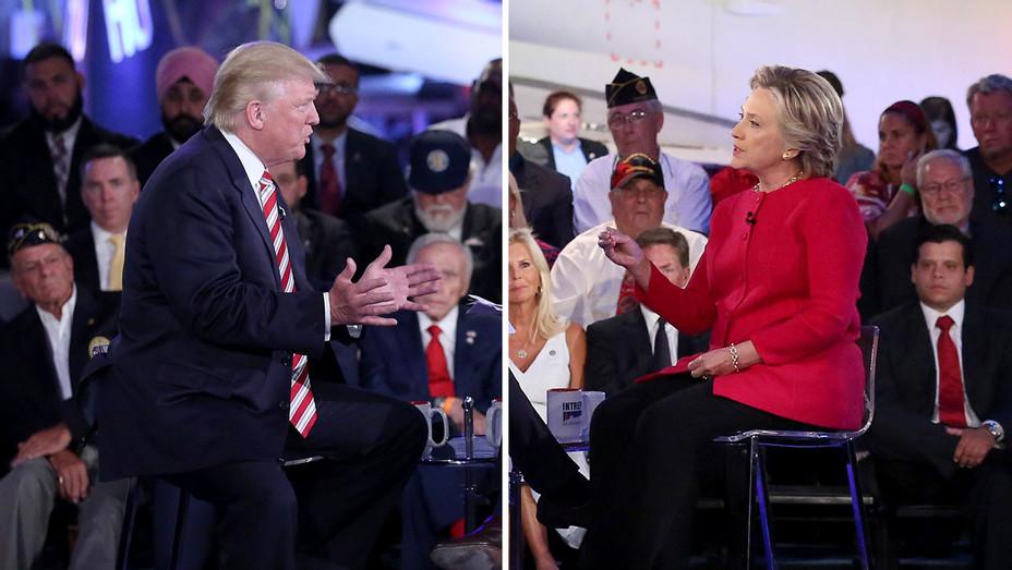 Donald_Trump_Hillary_Clinton_NBC_Commander in Chief Split - Publicity - H 2016