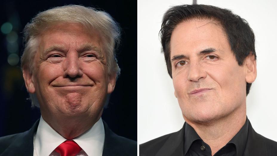 Donald Trump Mark Cuban - Split - H - 2016