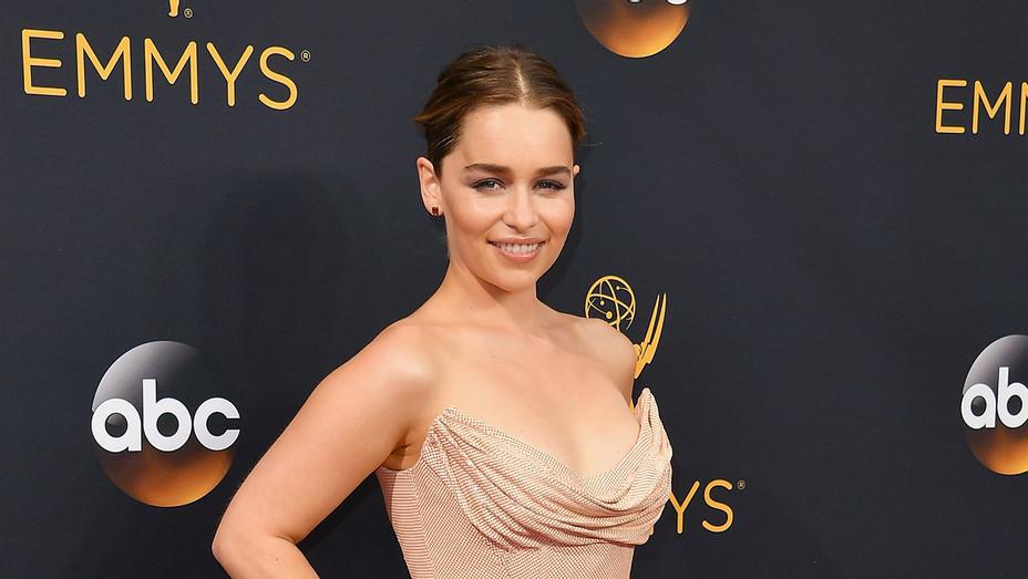 Emilia Clarke Emmys - Getty - H 2016
