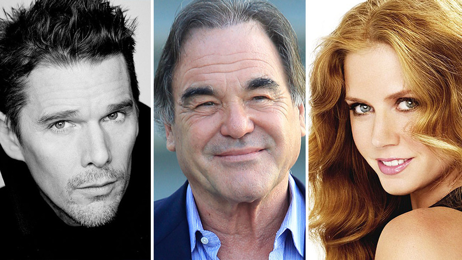 Ethan Hawke, Oliver Stone and Amy Adams Split - Publicity -H 2016