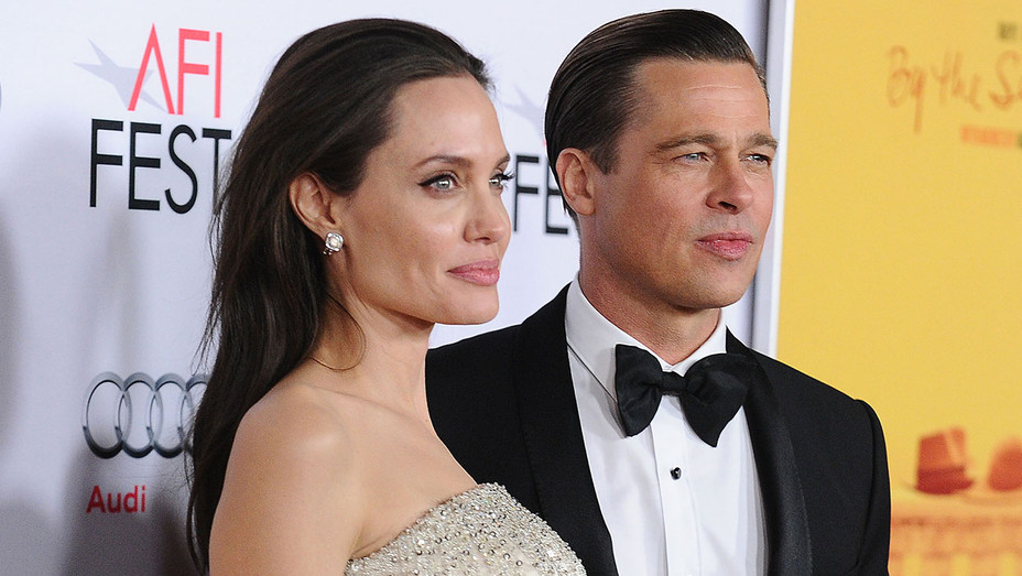 Angelina Jolie and Brad Pitt attend the premiere of By the Sea - Getty - H 2016