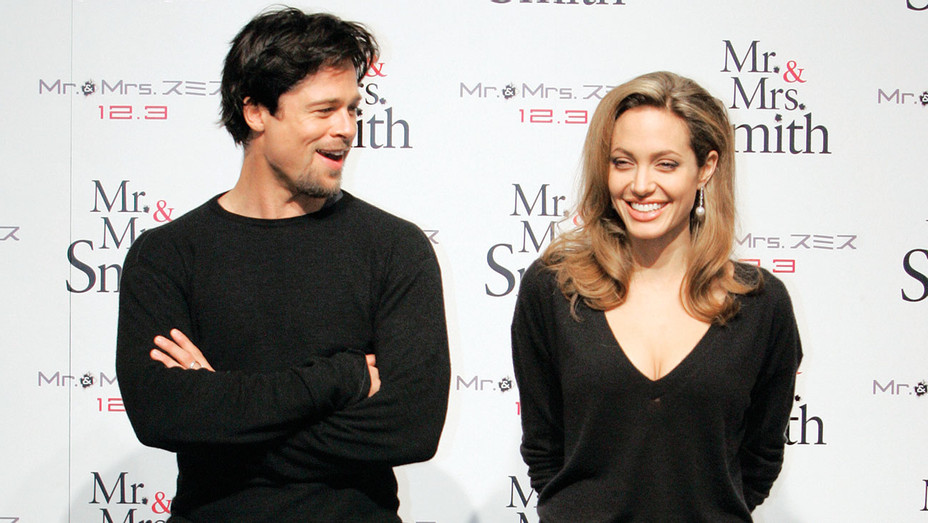 BRAD PITT and ANGELINA JOLIE - Mr. & Mrs. Smith press conference 2005 - Getty- H 2016