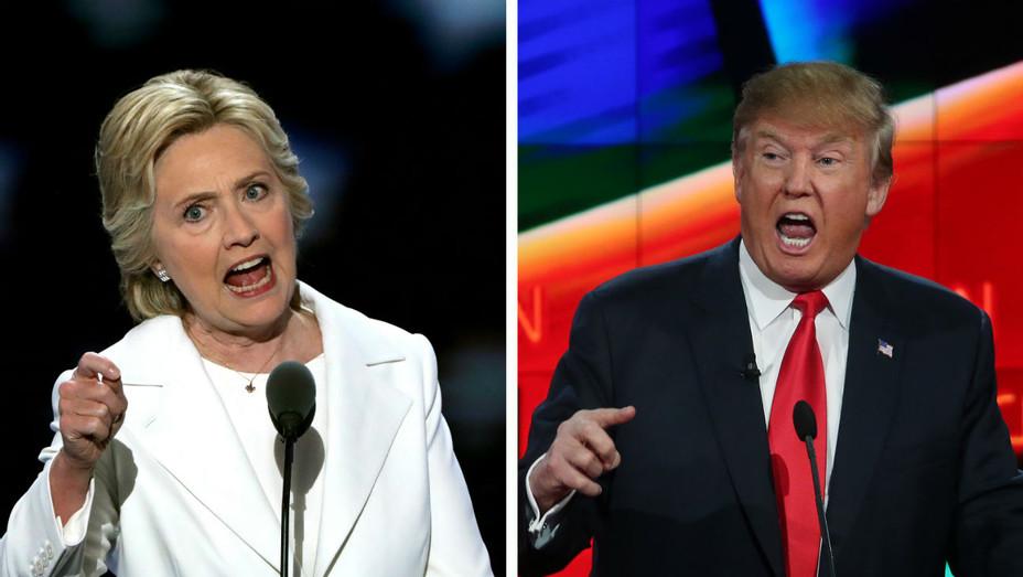 Trump Clinton Pre-Debate - Getty - H 2016