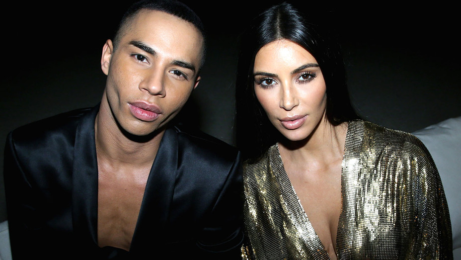 Olivier Rousteing and Kim Kardashian West Balmain aftershow party - Getty - H 2016
