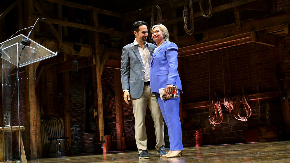 Hillary Clinton and Lin-Manuel Miranda - Getty - H 2016