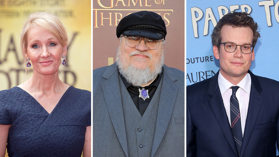 J.K. Rowling, George R. R. Martin & John Green_Split - Getty - H 2016