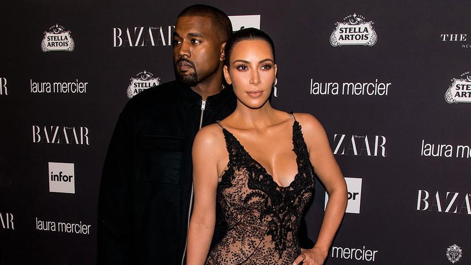 Kanye West - Kim Kardashian - Harper's BAZAAR  Event - Getty - H - 2016