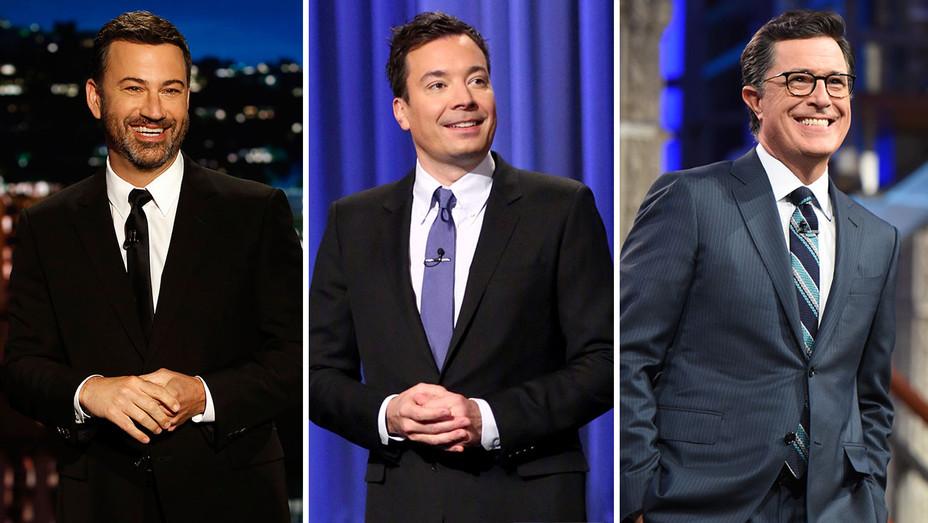 Kimmel, Fallon and Colbert -Split- Publicity- H 2016
