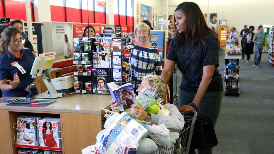 Michelle Obama and Ellen DeGeneres at CVS — H 2016