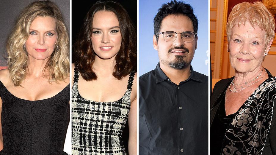 Michelle Pfeiffer, Daisy Ridley, Michael Pena and Judi Dench - Split- Getty -H 2016