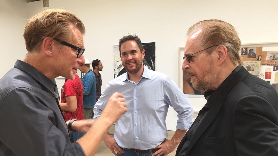 MOCA director Philippe Vergne - UTA Fine Arts head Josh Roth and artist Larry Clark - H - 2016