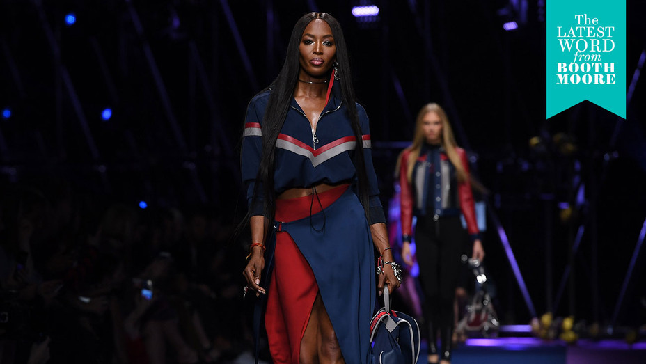 Naomi Campbell Versace SS17 Booth - Getty - H 2016