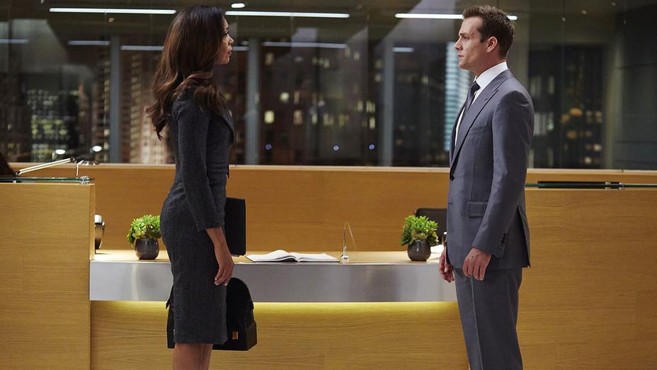 SUITS - P.S.L. Episode 610 - Gina Torres and Gabriel Macht - Publicity -H 2016