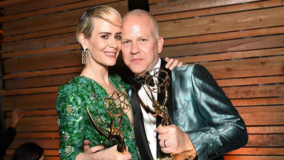 Sarah Paulson and Ryan Murphy - FOX Emmy Party - H - 2016