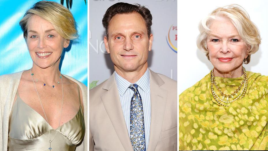 Sharon Stone, Tony Goldwyn and Ellen Burstyn Split - Getty - H 2016