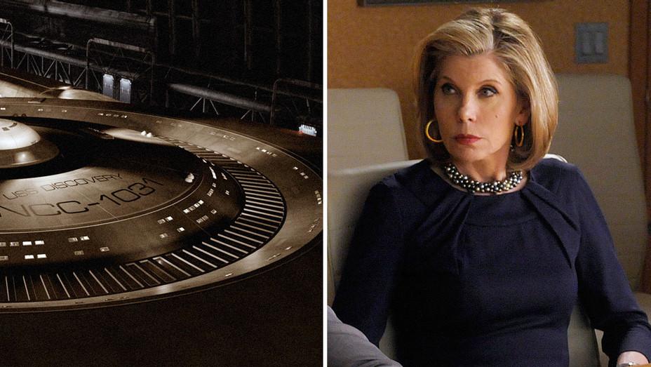 Star Trek Ship and Christine Baranski Split - Publicity - H 2016